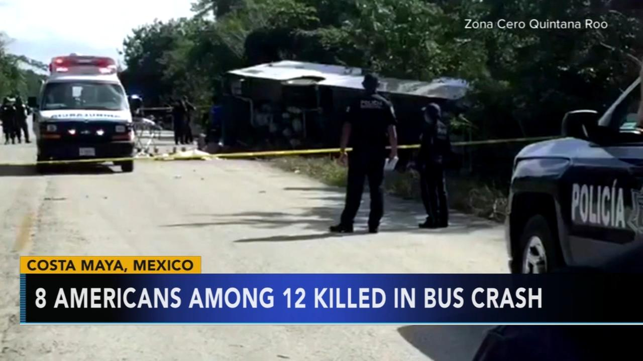 8 Americans among 12 killed in Mexico tour bus crash