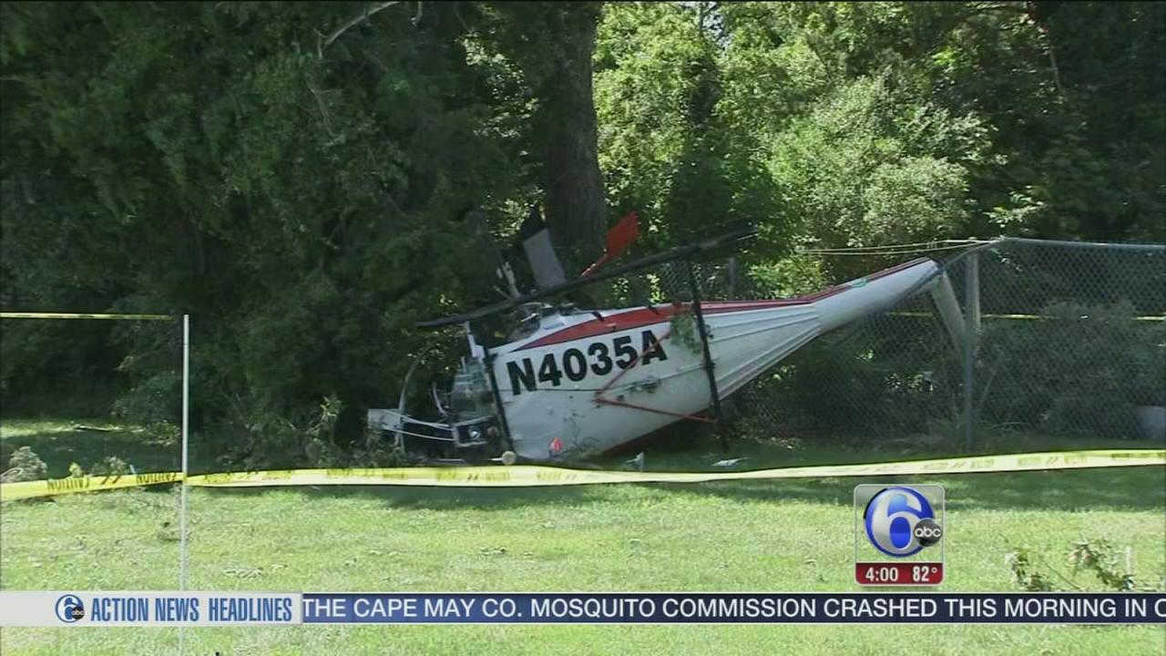 VIDEO: Helicopter crash in Cape May Court House
