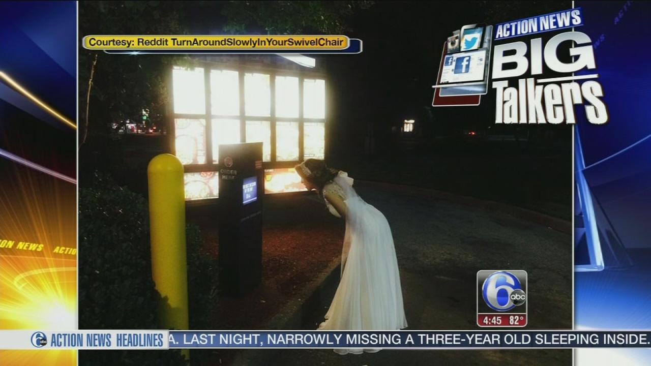 VIDEO: Bride tries to order Taco Bell at drive-thru