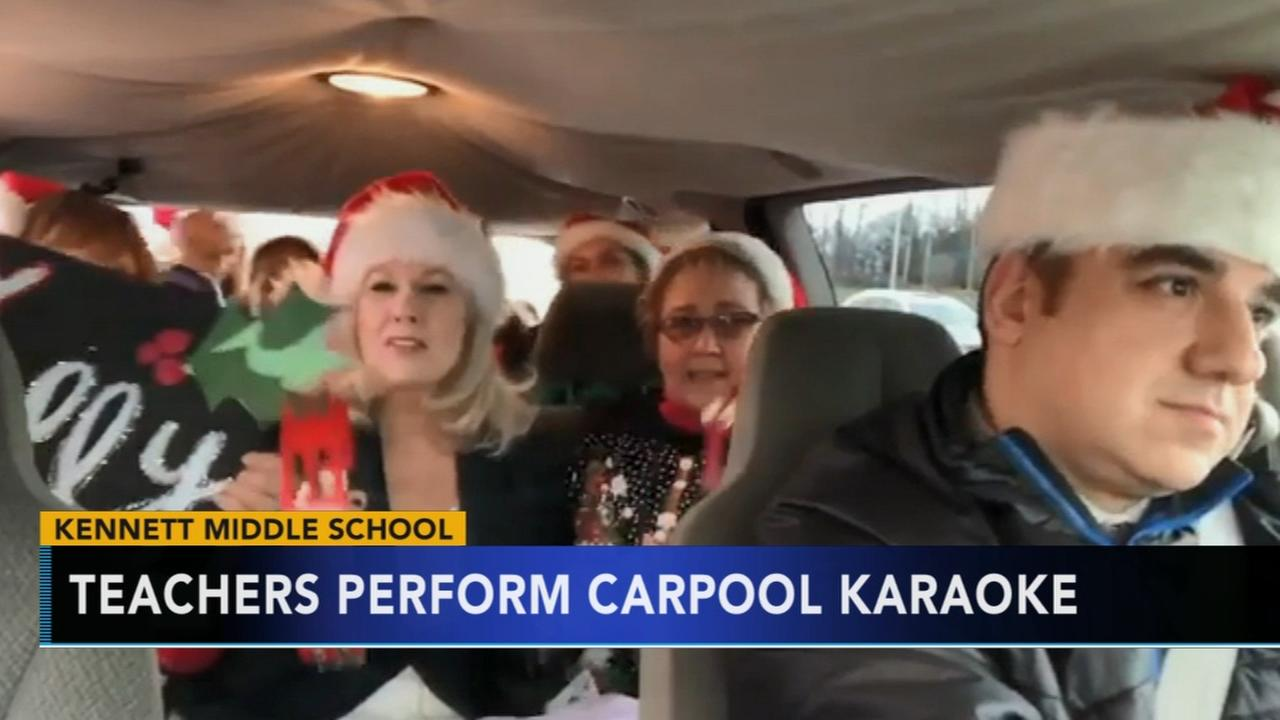 Kennett Middle School staff shows off their own rendition of Carpool Karaoke