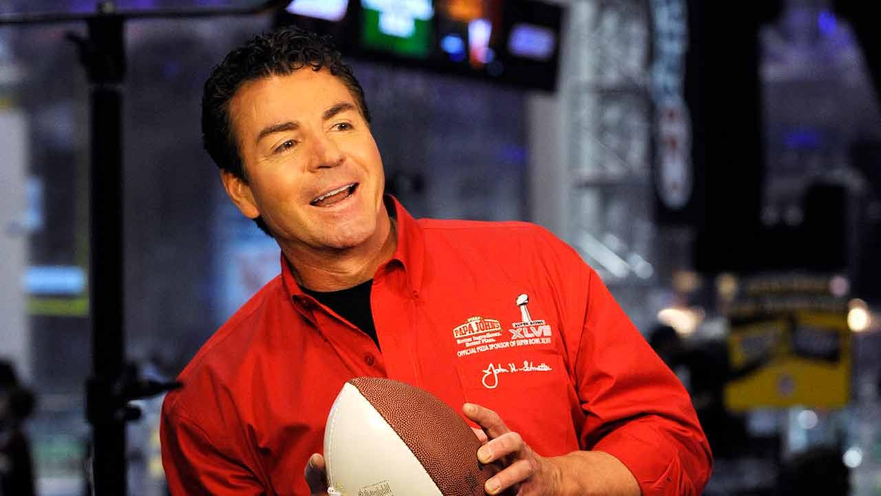 Papa Johns Founder John Schnatter is seen here promoting Papa Johns Super Bowl XLVII Coin Toss Experience, Thursday, Jan. 31, 2013, in New Orleans.