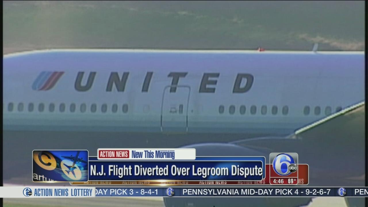 VIDEO: N.J. flight diverted after fight over legroom