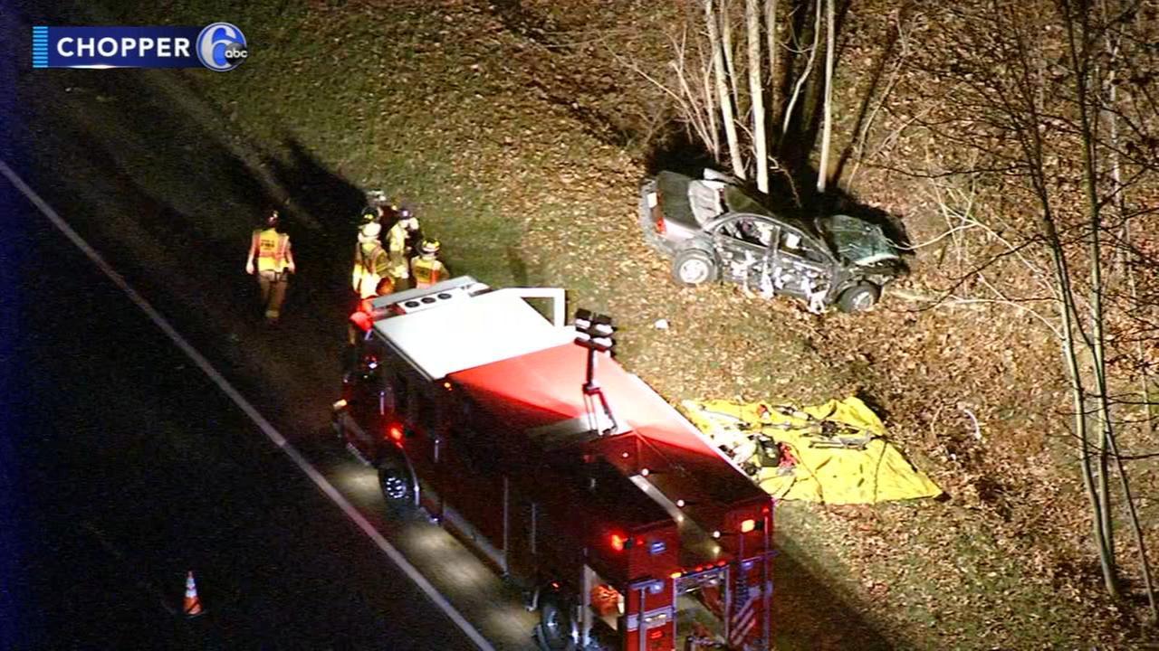 VIDEO: Officials investigate crash in Glassboro, N.J.