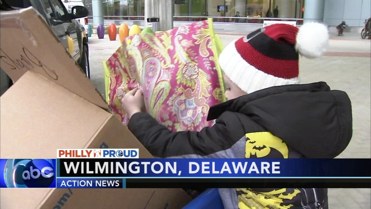 Young boy collects 500 toys for children in hospital