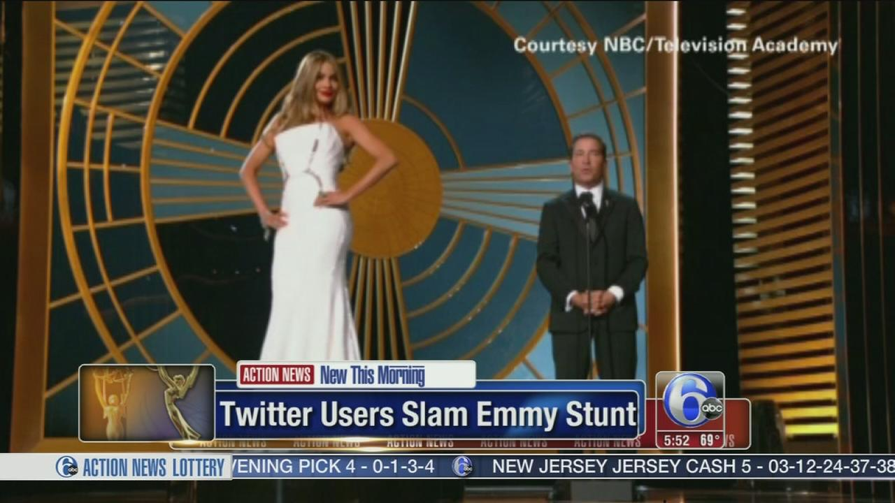 VIDEO: Twitter users slam emmy stunt with Sophia Vergara