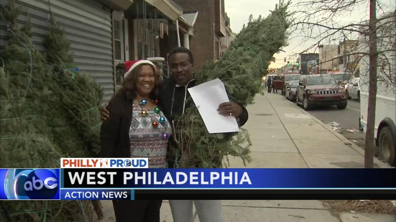 Pennsylvania legislator hands out free Christmas trees to West Philadelphia residents