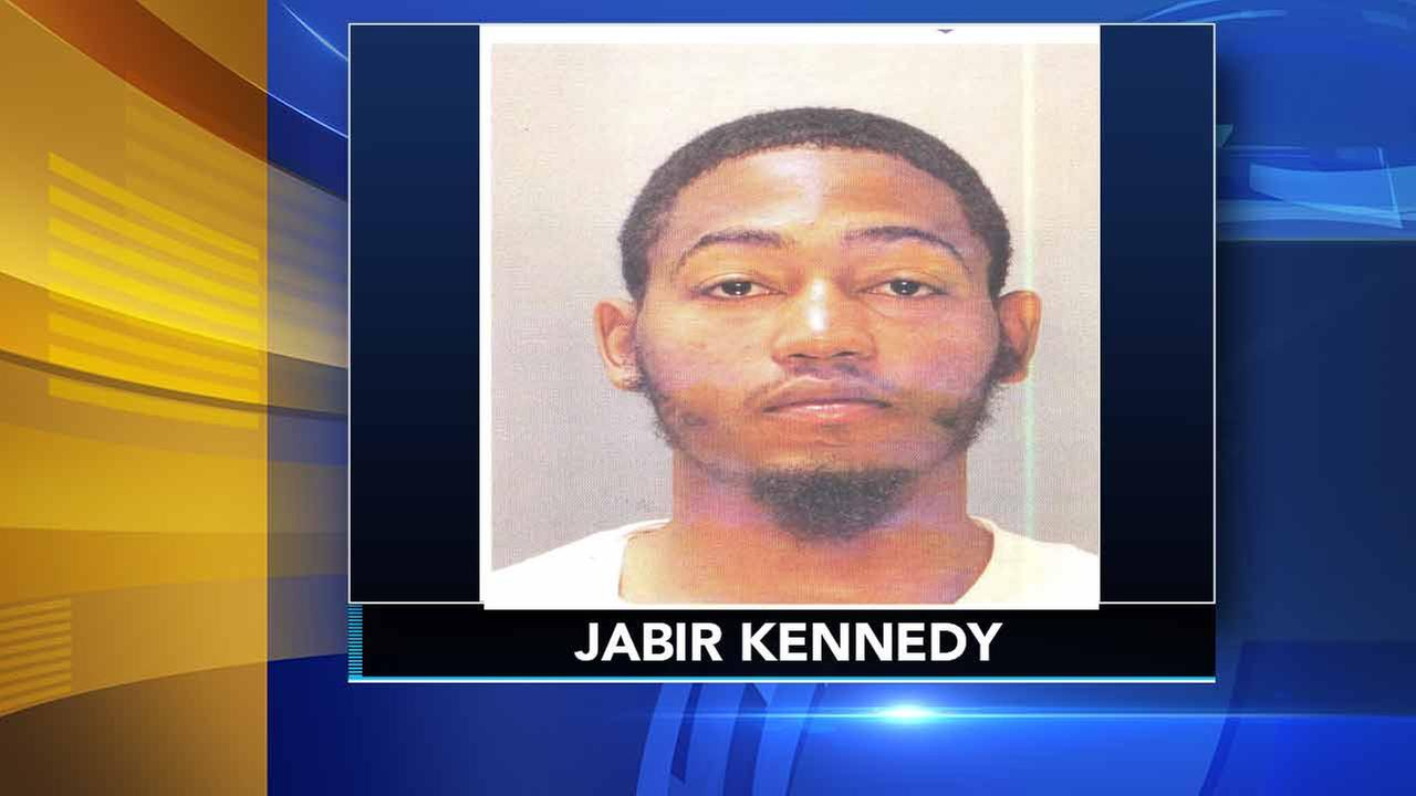 Philadelphia police released this previous mug shot of Jabir Kennedy. Kennedy is wanted in connection with a quadruple shooting in Southwest Philadelphia.