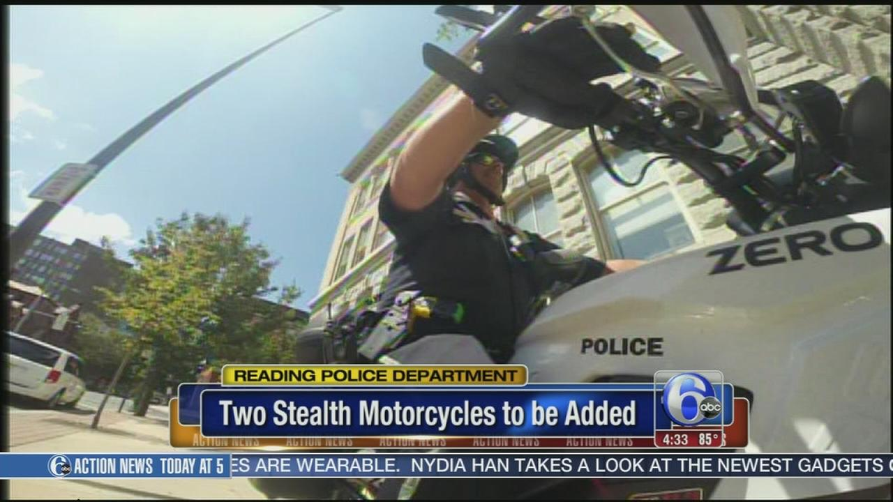 VIDEO: Reading police add futuristic motorcycles to fleet
