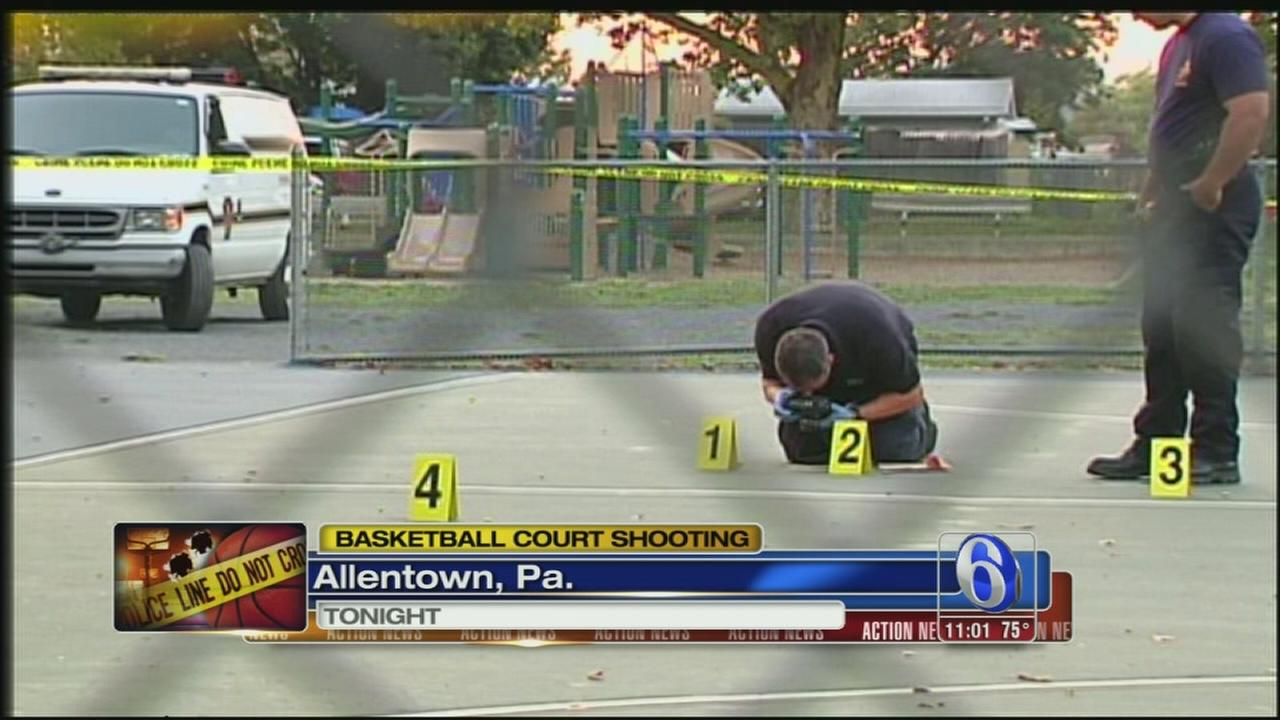 VIDEO: Allentown basketball court shooting