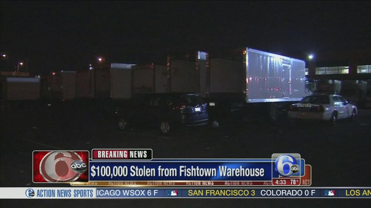 VIDEO: Police: Robbers steal $100K from food distribution center
