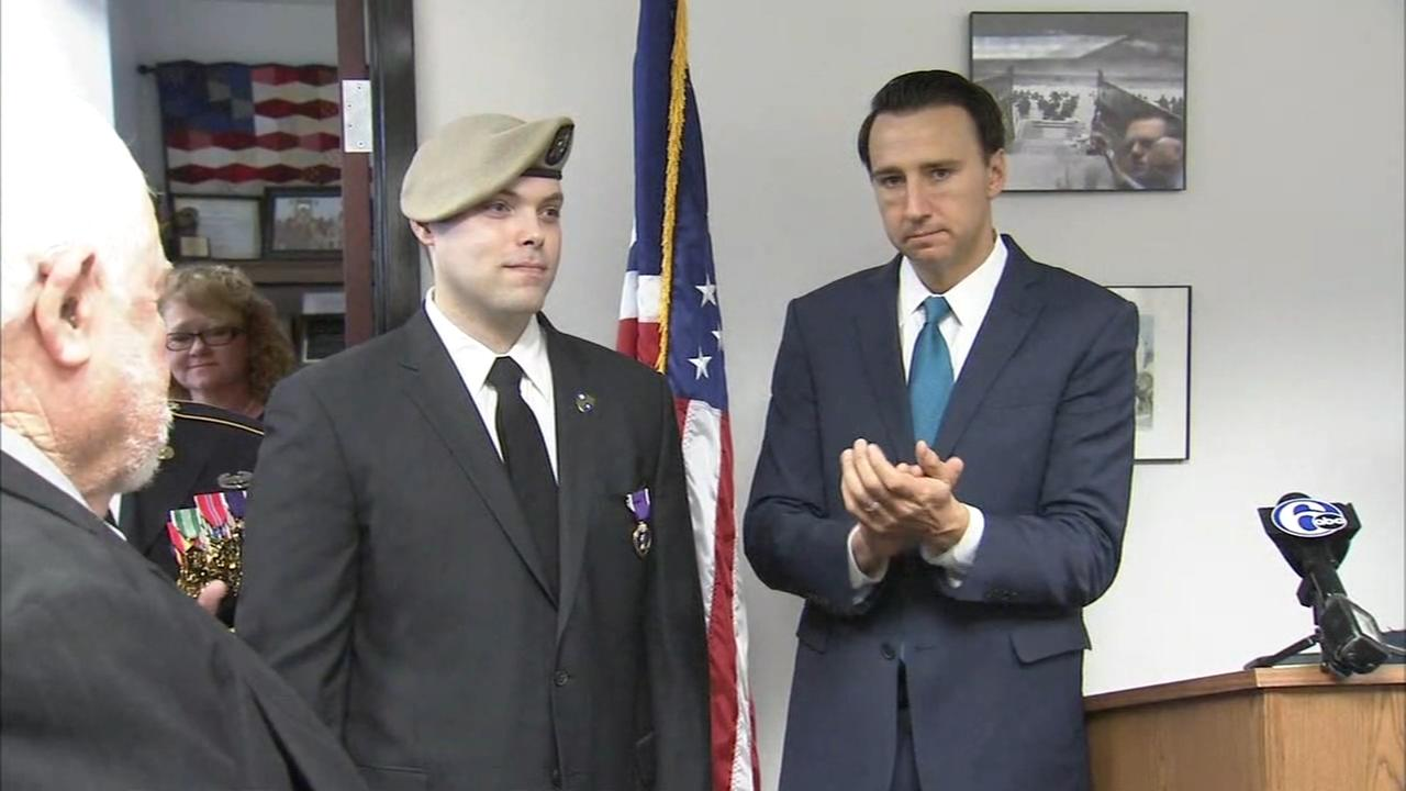 Local veteran receives Purple Heart