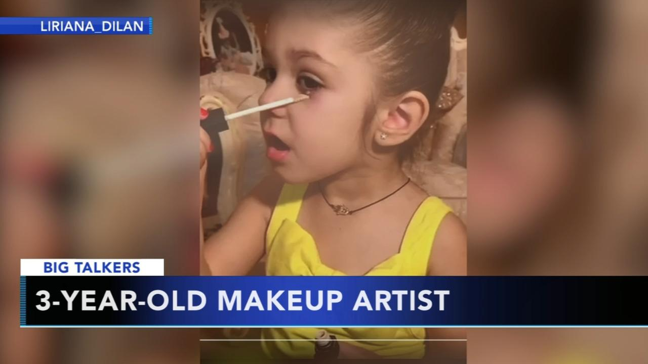 3-year-old makeup artist causing social media controversy