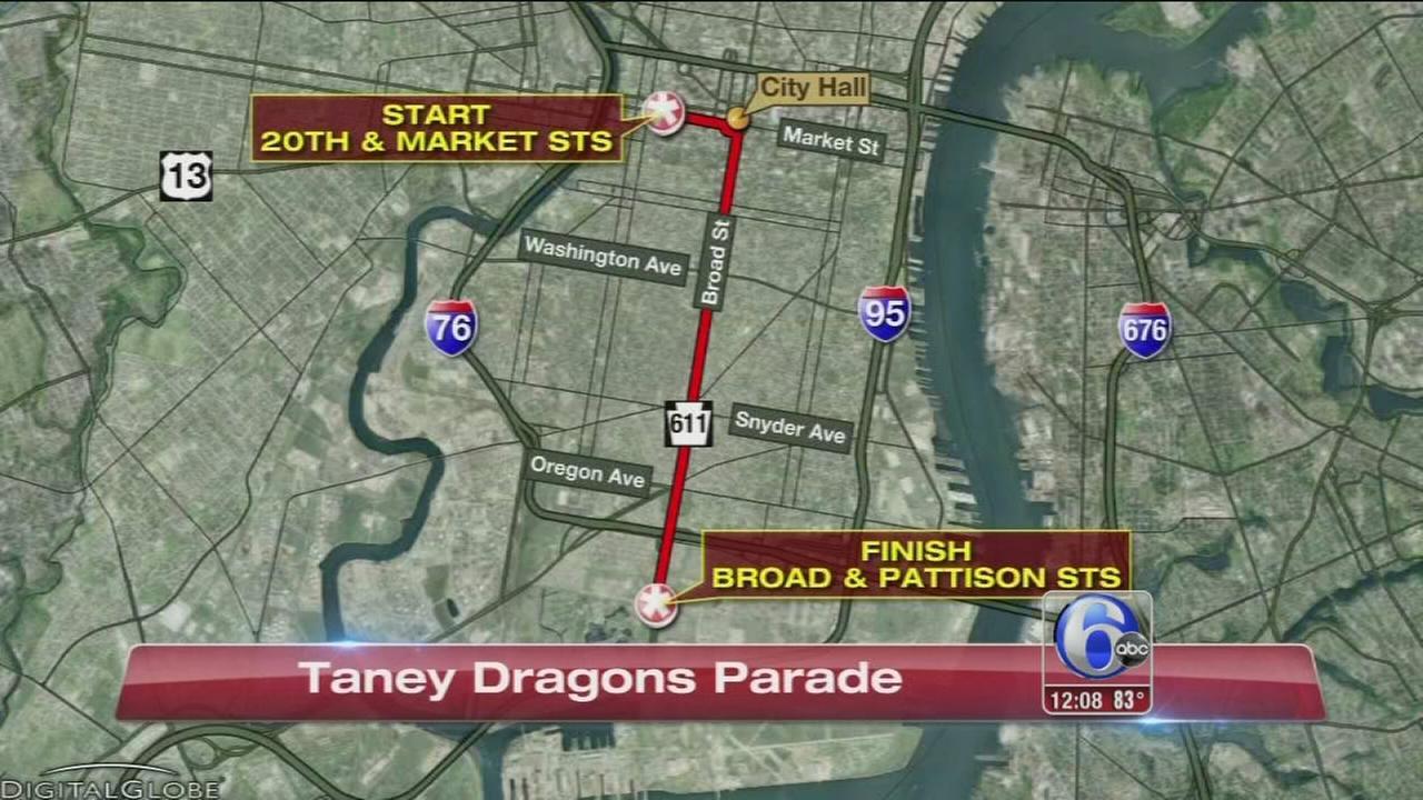 VIDEO: Parade honors Taney Dragons