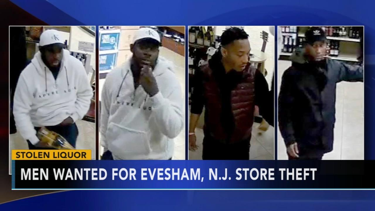 Men wanted for Evesham liquor theft
