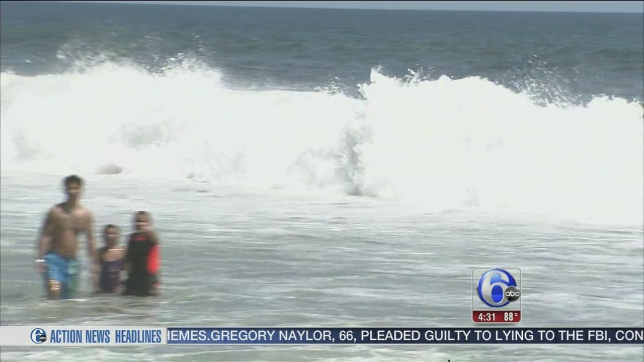VIDEO: Rip current warning at NJ shore
