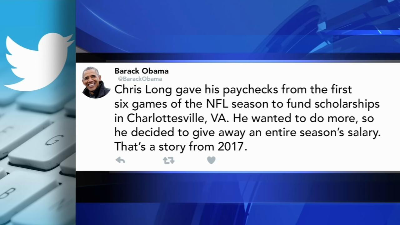 Chris Long recognized by Obama in whats best about America tweet