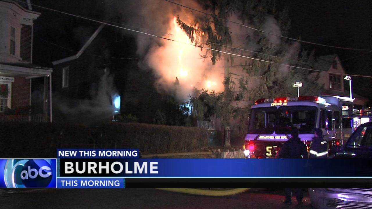 Firefighters battle fire in citys Burlhome section
