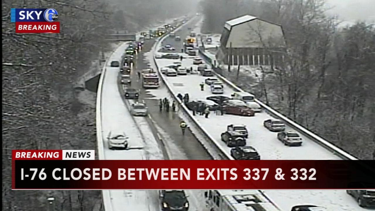 Multi-vehicle crash causes closures on I-76