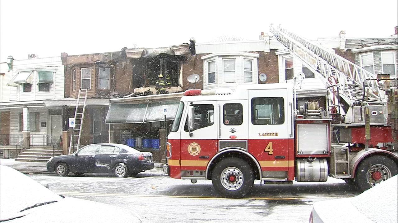 Firefighters battle house fire in Southwest Philadelphia