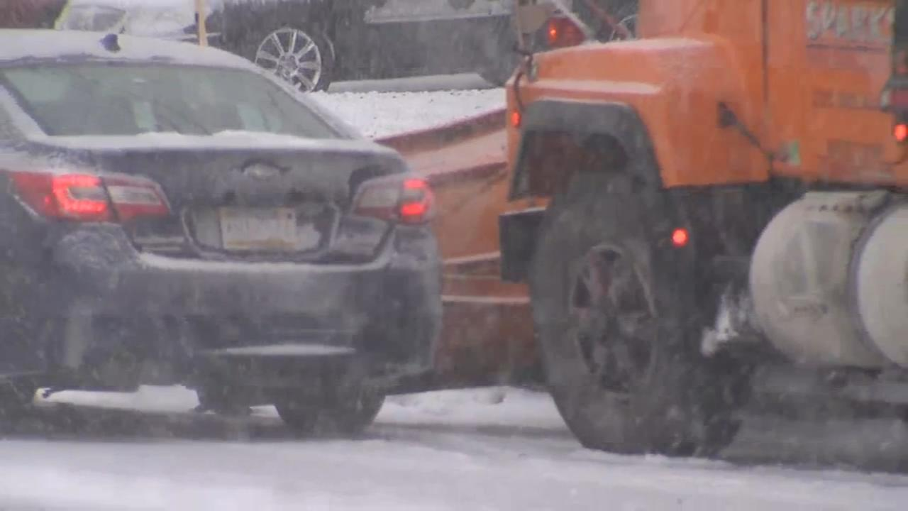 Private snow plow, car collide in Horsham