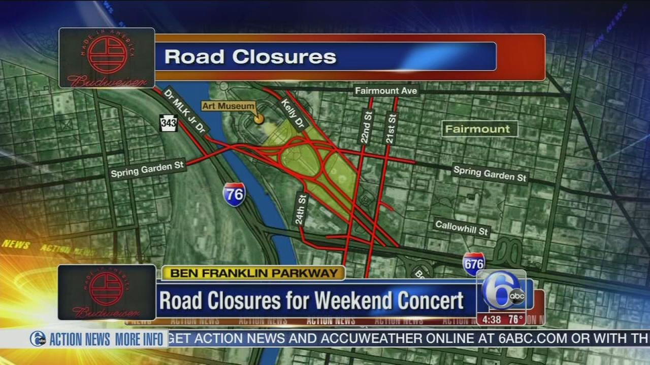VIDEO: Made in America road closures