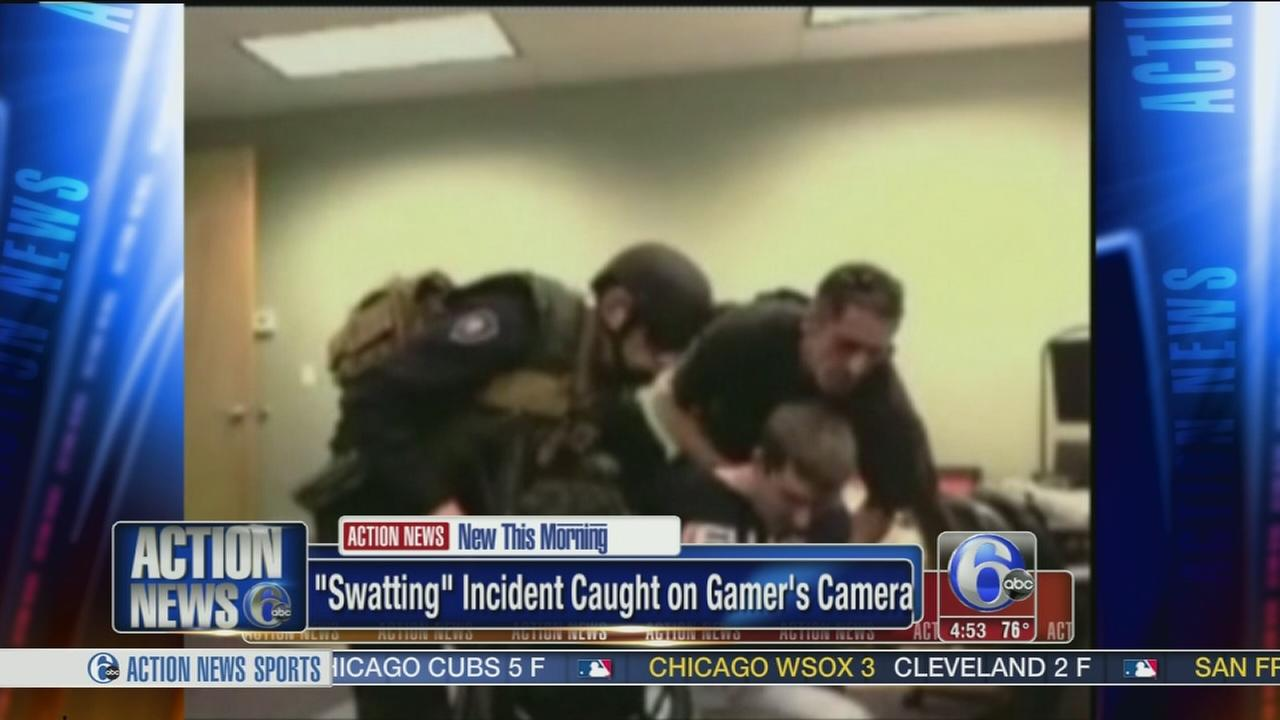 VIDEO: Swatting prank caught on camera