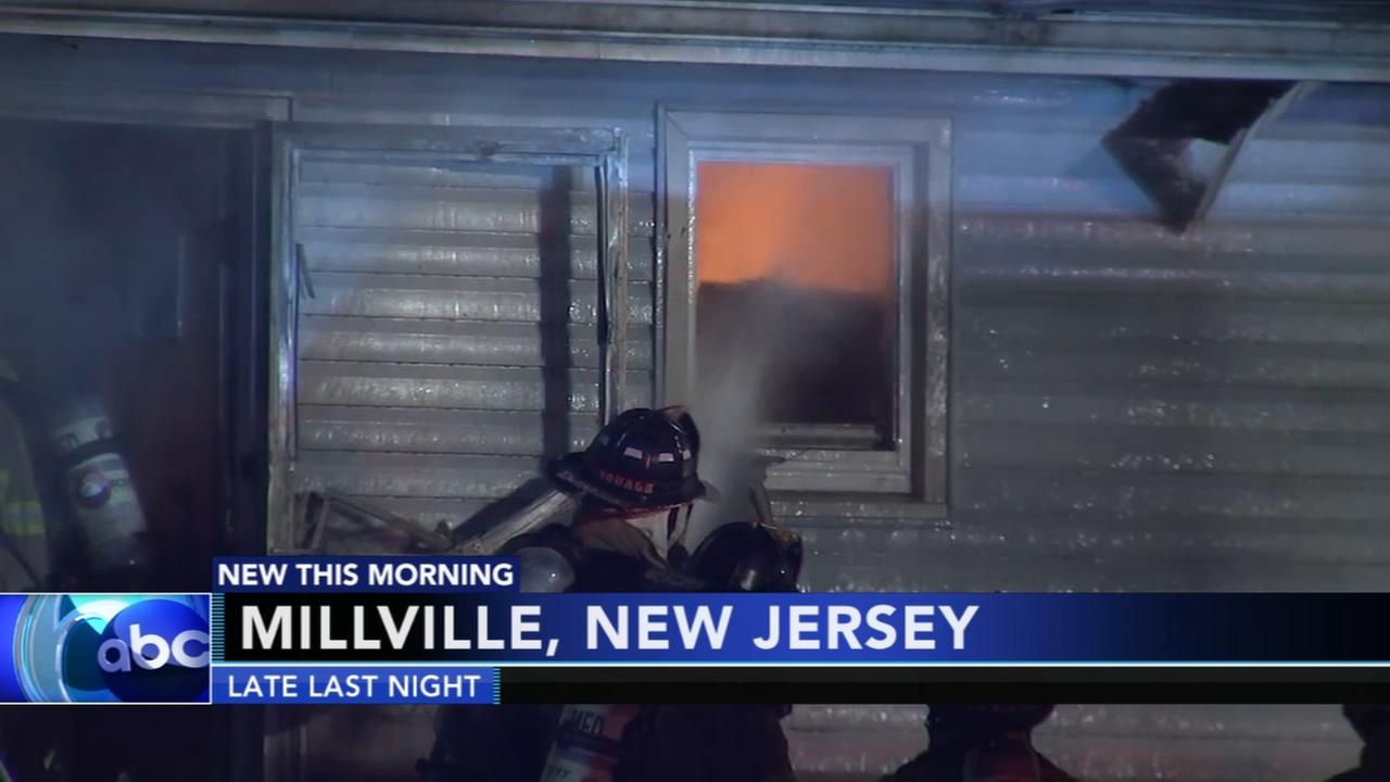 2 injured in Millville, New Jersey house fire