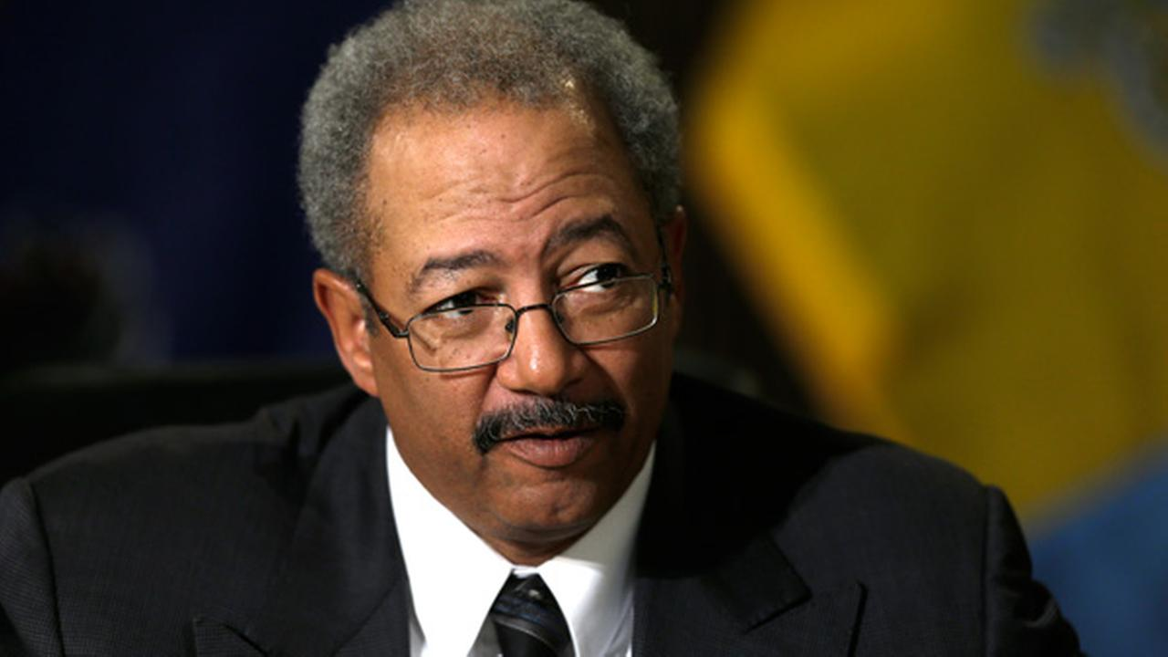 Rep. Chaka Fattah, D-Pa., at Girard College, Monday, Feb. 11, 2013, in Philadelphia. (AP Photo/Matt Rourke)