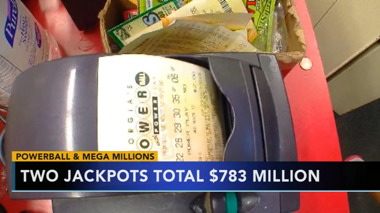 Jackpots total $783 million