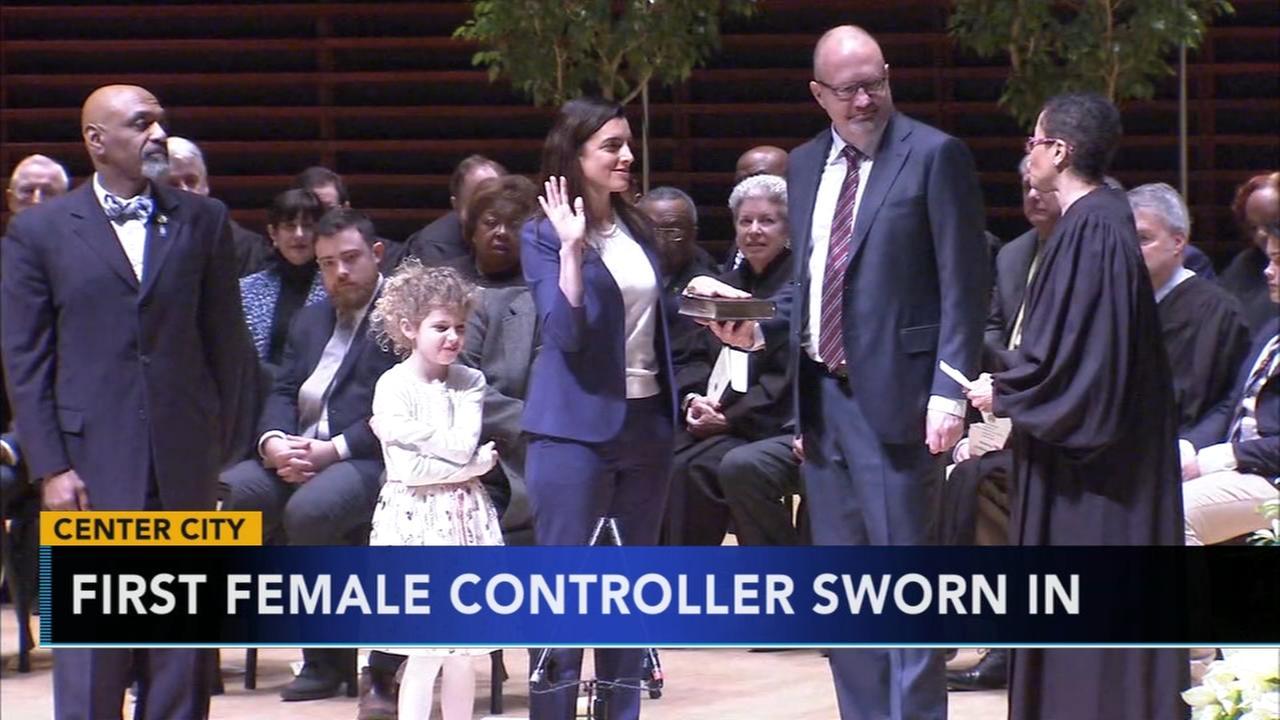 First female controller for Philadelphia Rebecca Rhynhart sworn in