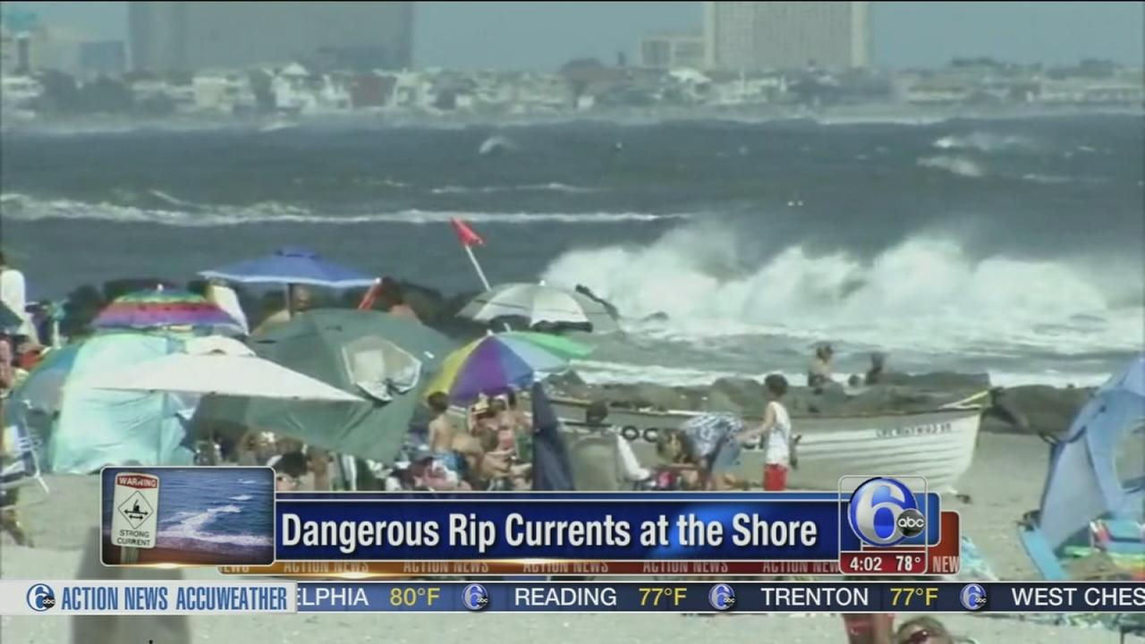 VIDEO: Dangerous rip currents an issue at Jersey Shore