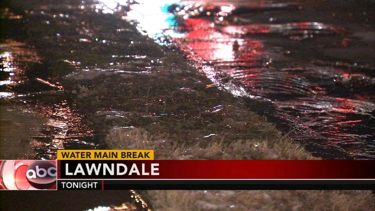 Lawndale water main break