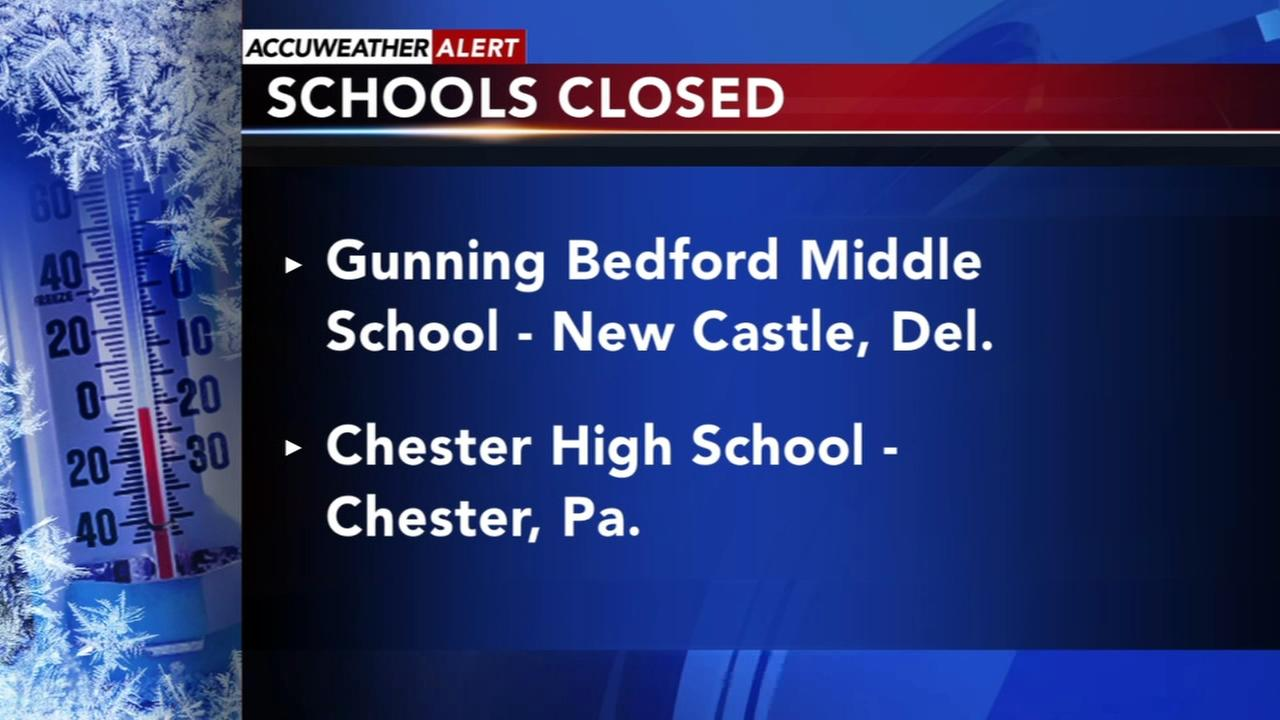 Schools closed due to weather-related issues