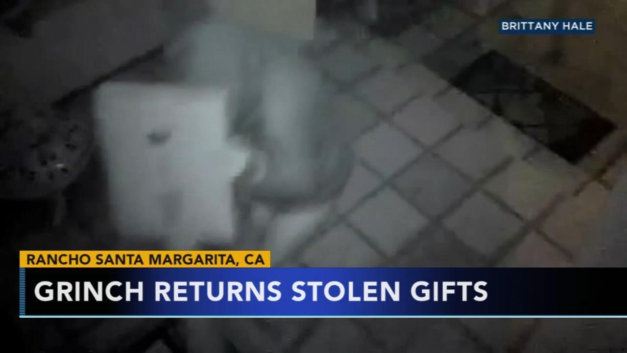 Thief returns stolen gifts