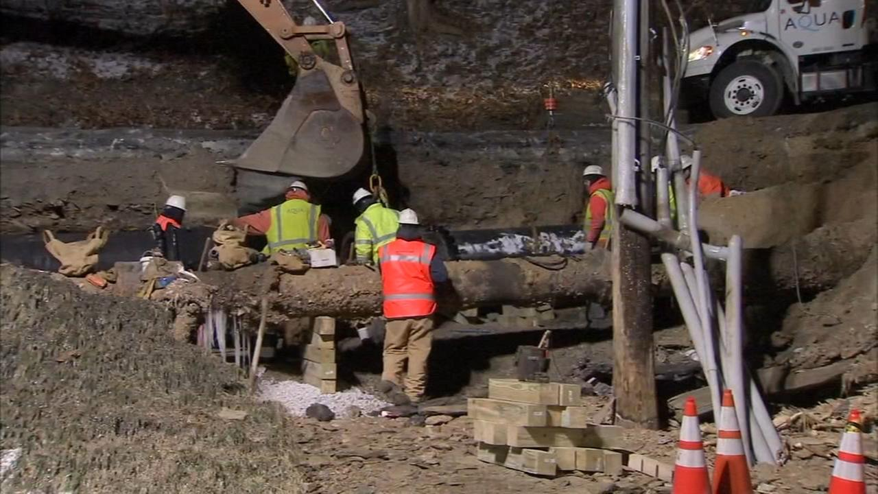 Work continues on West Conshohocken water main break