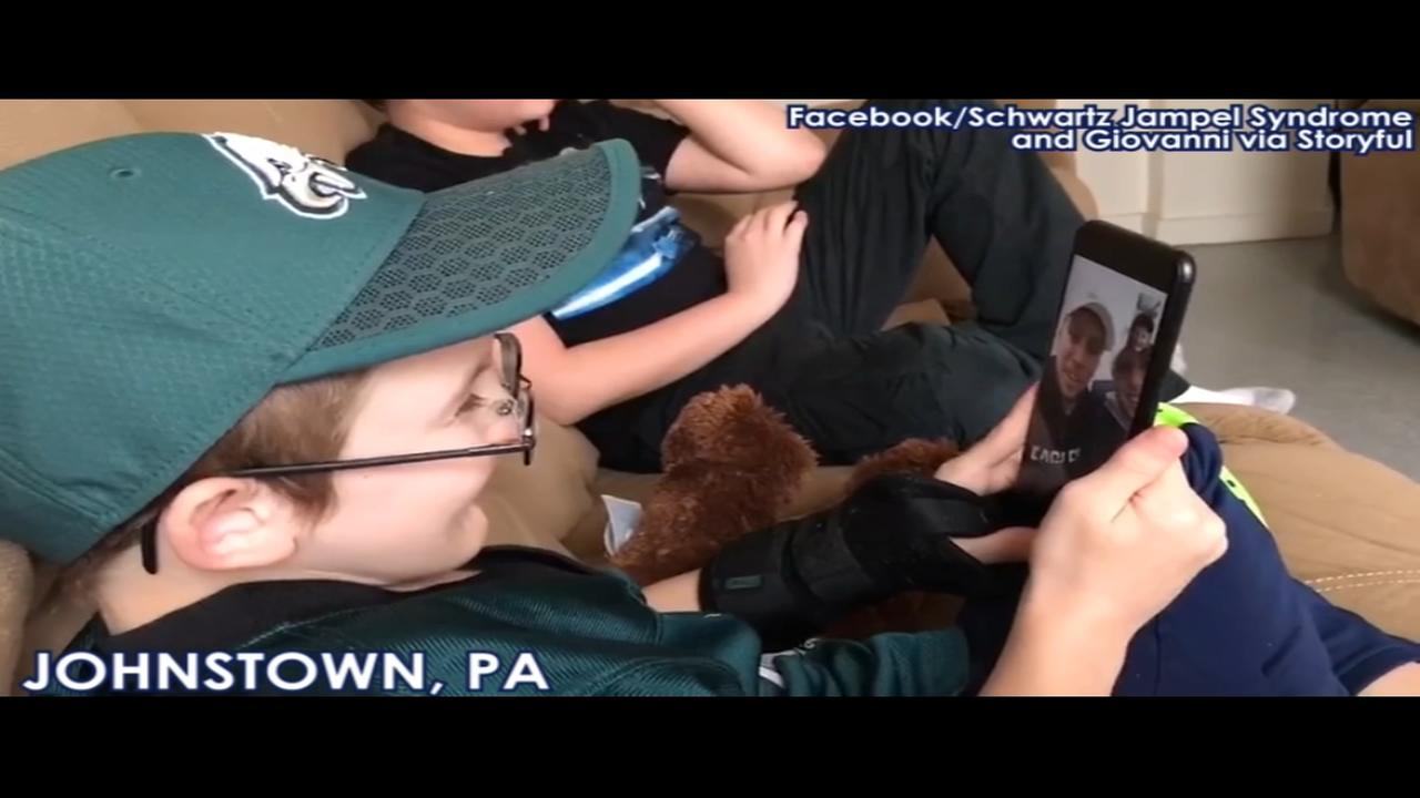 Philadelphia Eagles surprise boy with rare genetic disorder with special phone call