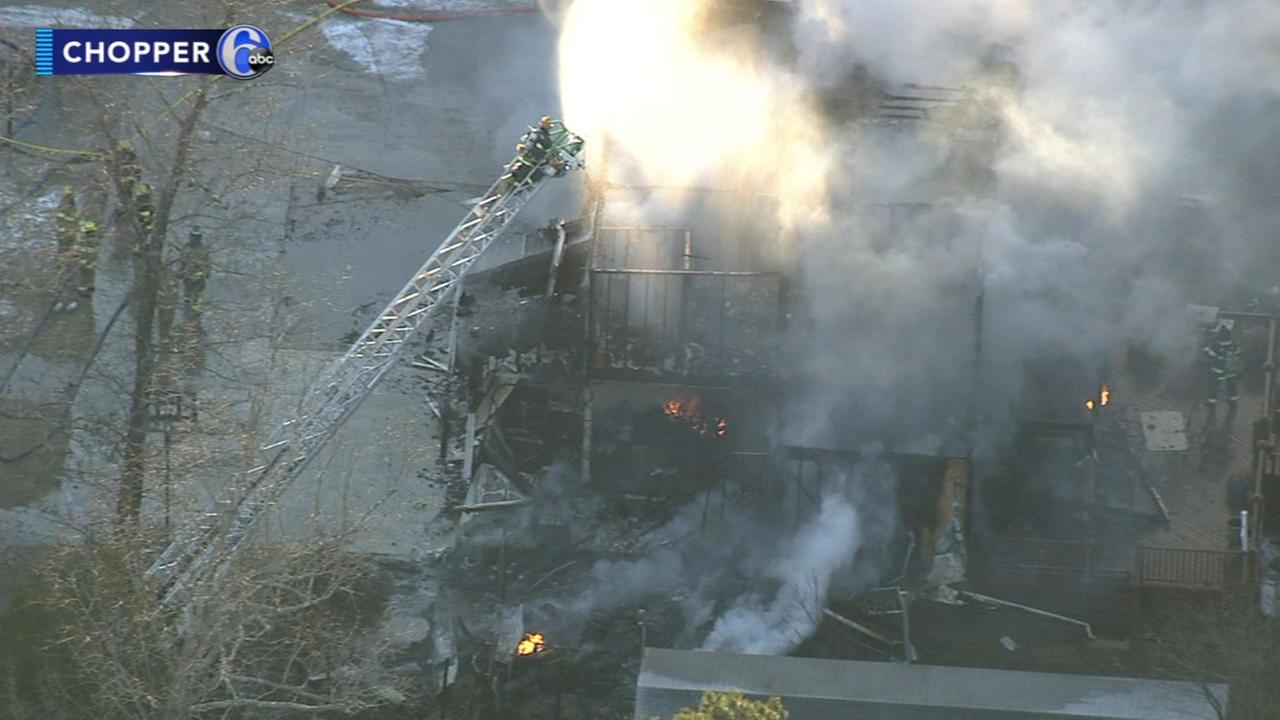 Firefighter battles fire at own house in NJ