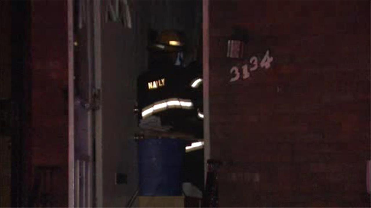 Crews battle flames inside North Philadelphia home