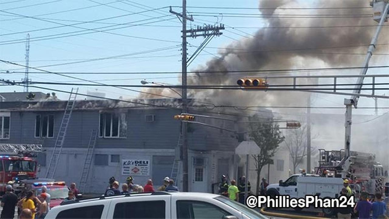 Fire in Wildwood, New Jersey