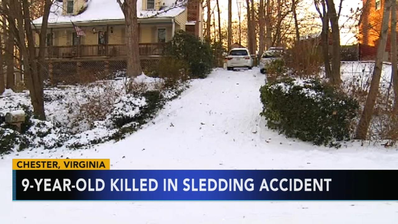 Girl, 9, killed in sledding accident