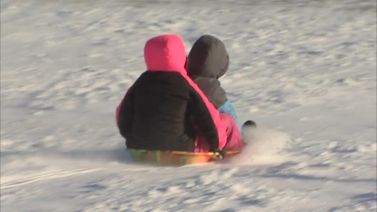 For sledding, the colder the better