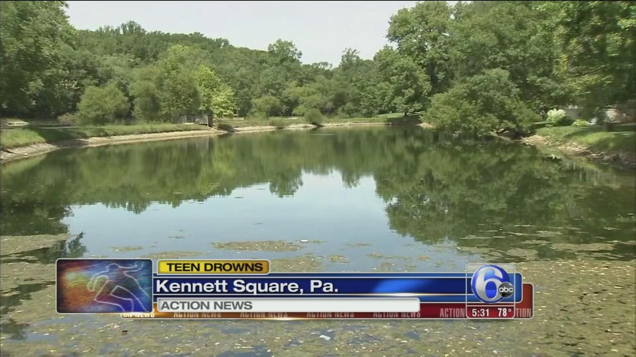 VIDEO: Teen drowns in Kennett Square pond