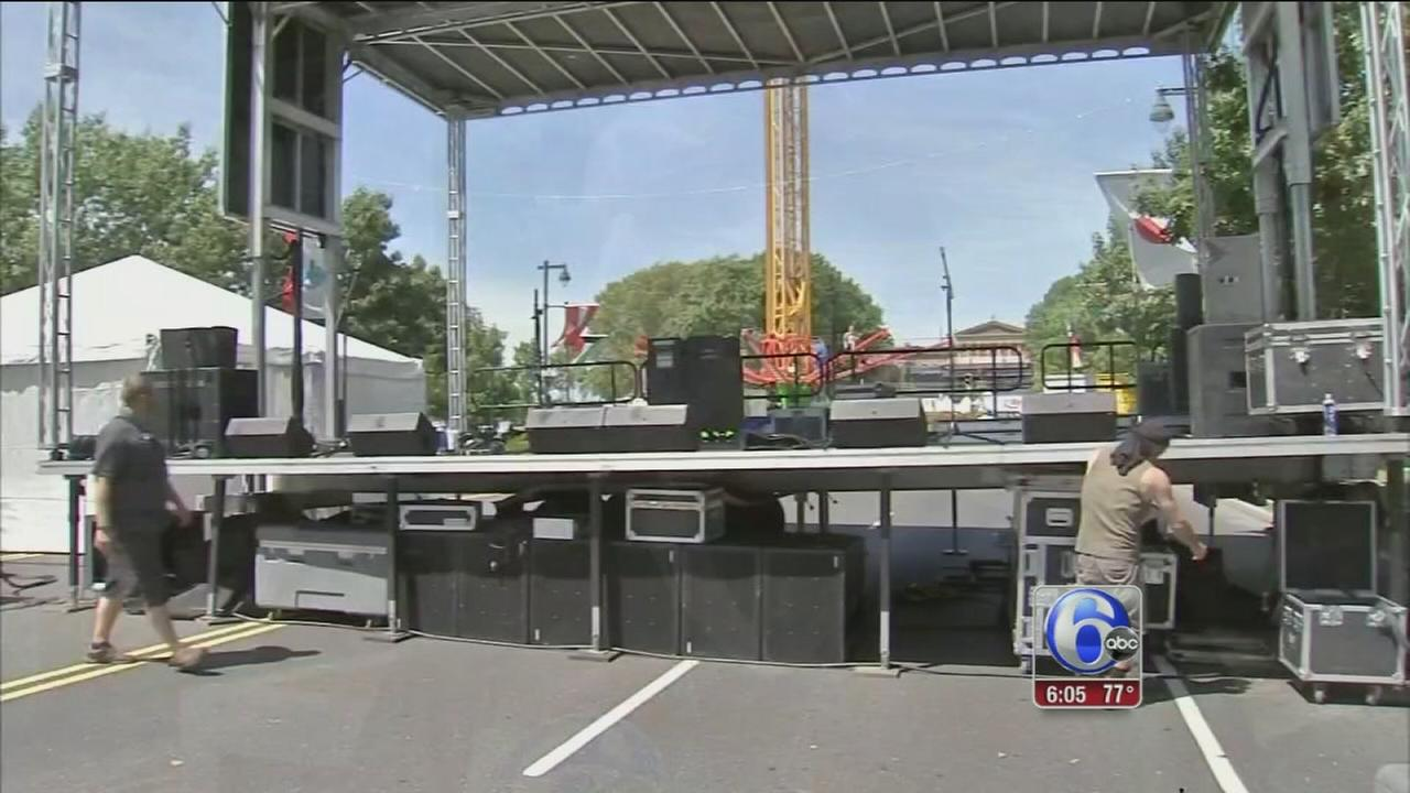 VIDEO: Final round of preps for Made in America festival