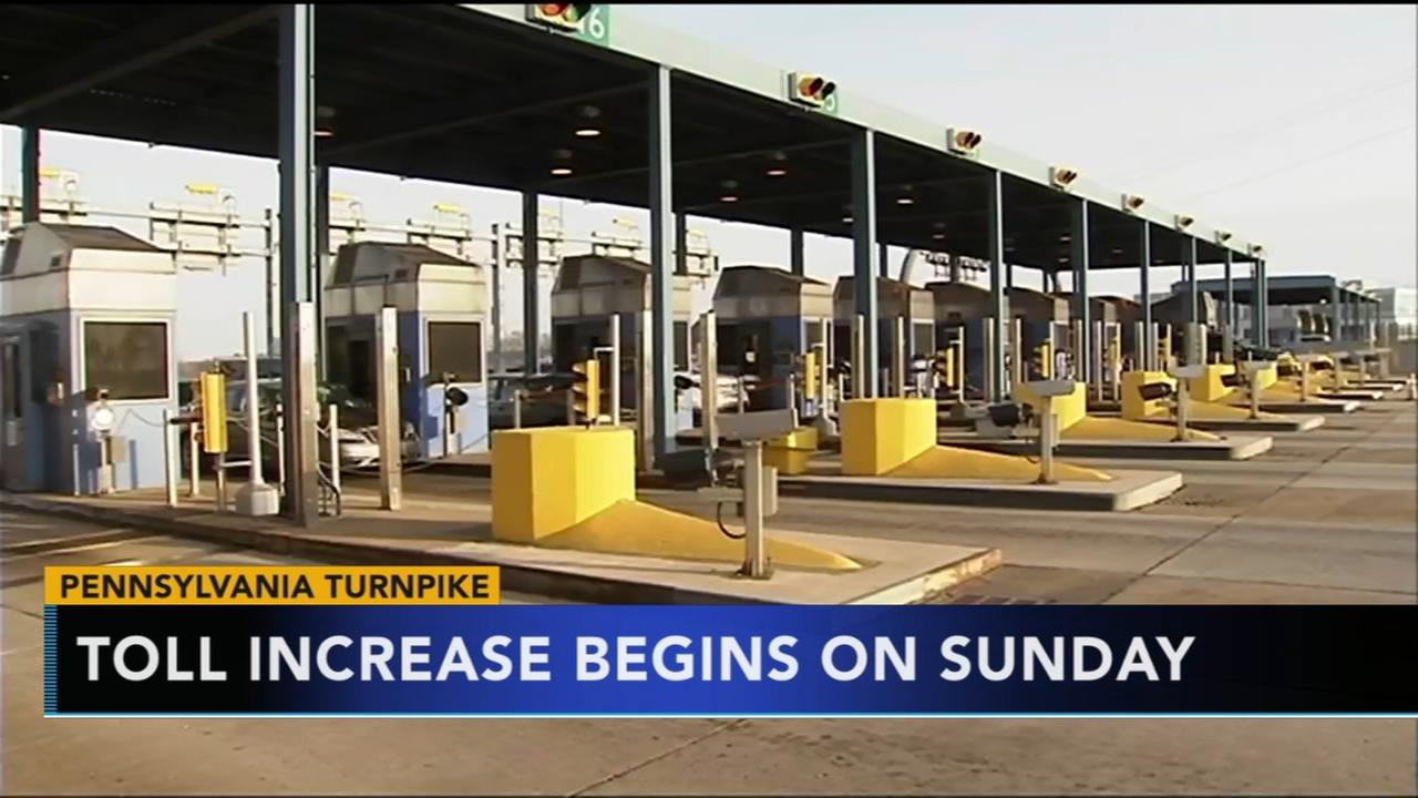 Tolls increasing on Pennsylvania Turnpike