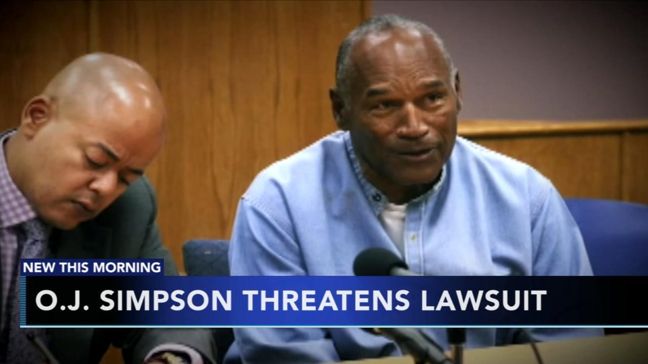 OJ Simpson threatening legal action against Vegas hotel