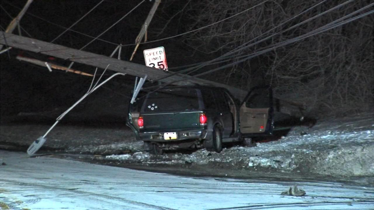 SUV crashes in Yeadon