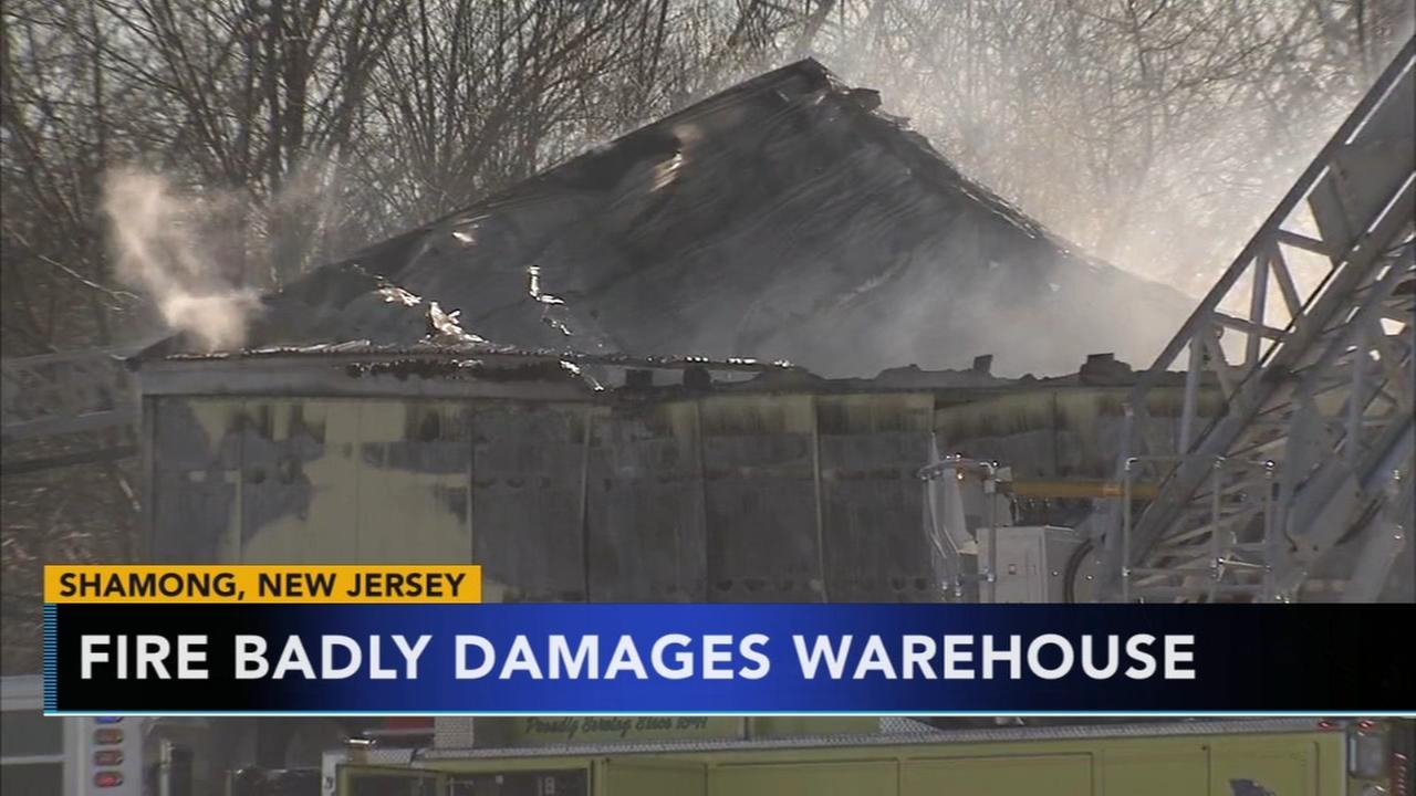 Fire damages warehouse in Shamong, NJ