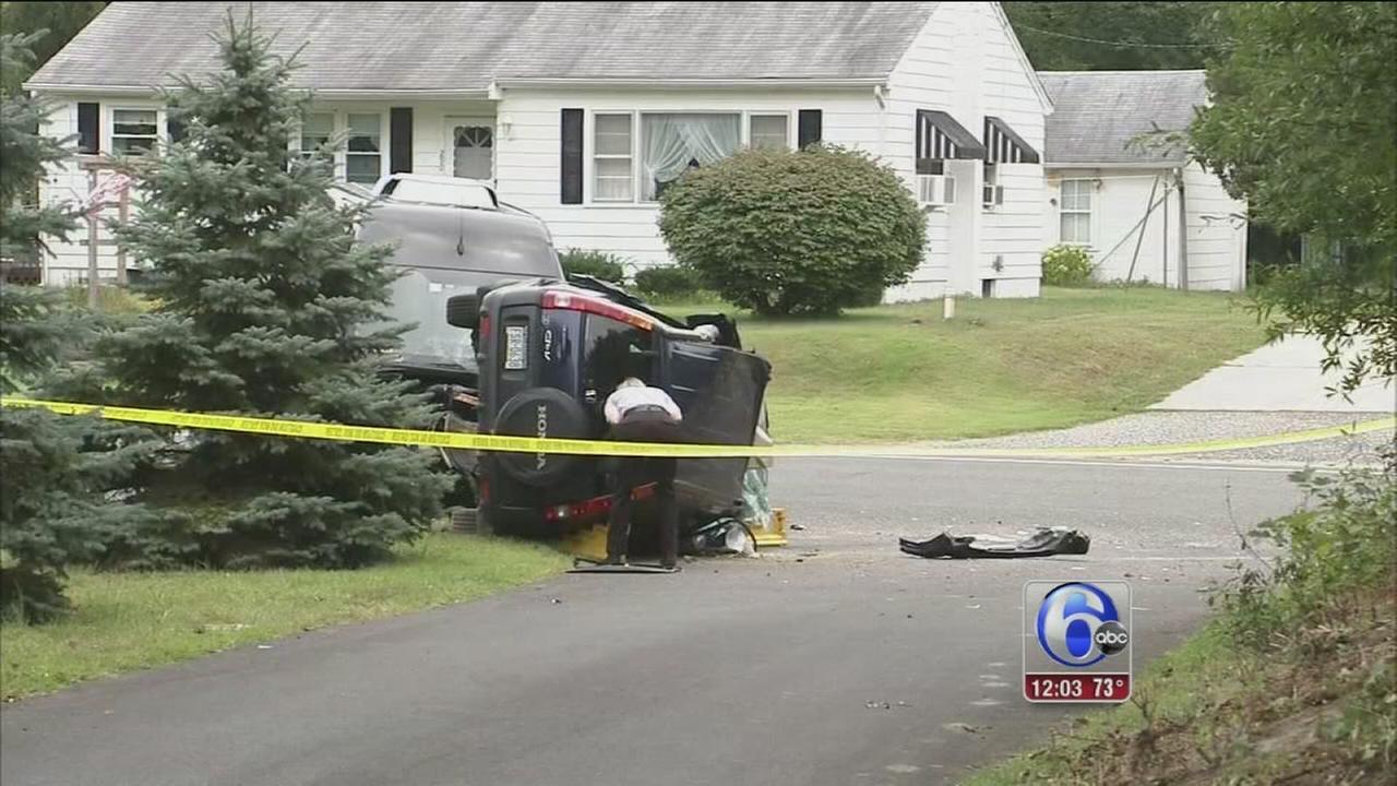 VIDEO: 1 dead in limo bus, SUV crash in Tuckahoe, NJ