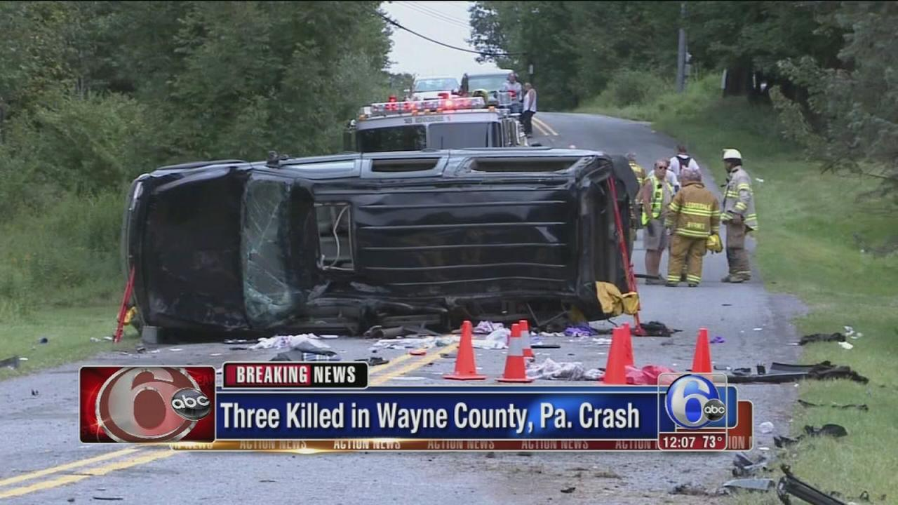 VIDEO: 3 killed, 3 hurt in northeastern Pa. crash