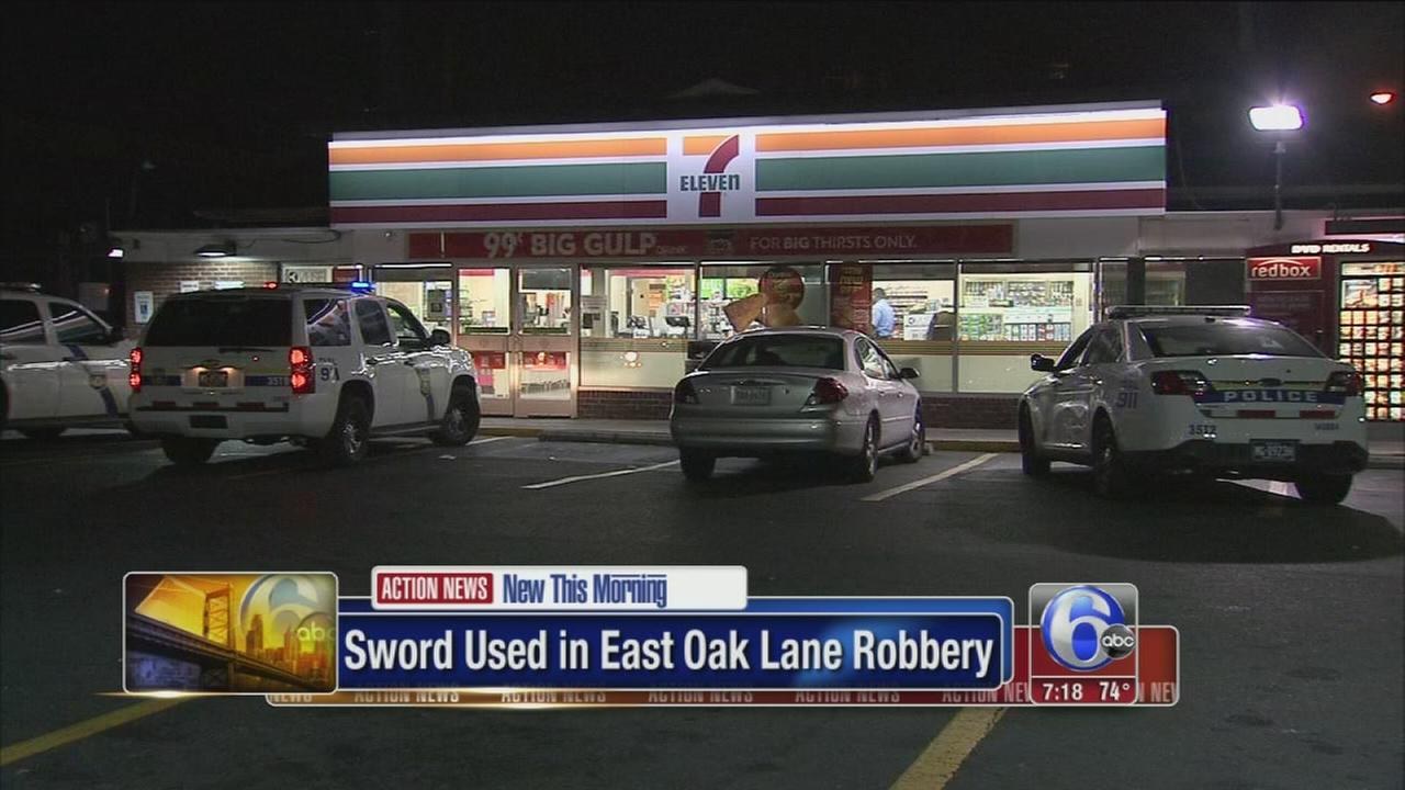 VIDEO: 7-Eleven in East Oak Lane robbed with sword